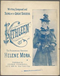 Kathleen / written and composed by Helene Mora. [I'm in love with a charming young lady, just the finest youn. Irish Songs, Irish Names, Irish Eyes Are Smiling, Vintage Sheet Music, Vintage Type, Music Covers, New York Public Library, Good Ol, Im In Love