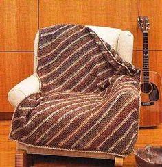 Diagonal Striped Throw Pattern (Crochet)