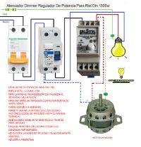 Esquemas eléctricos: Atenuador dimer regulador de potencia para riel di...