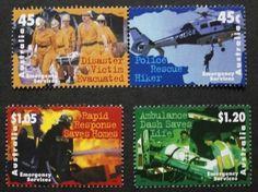 Emergency services stamps, 1997, Australia, SG ref: 1698-1701, 4 stamp set, MNH