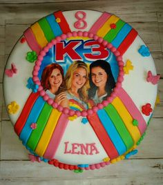 K3 taart No Bake Cake, Holland, Lego, Projects To Try, Anna, Birthday Cake, Pie, Baking, Desserts