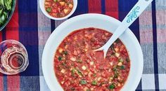 This gazpacho recipe is fresh, bright, chunky, tart, and crisp. You'll look forward to every tomato season for this perfect taste of summer.