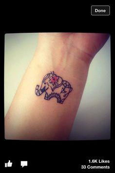 Cute Elephant Tattoo <3