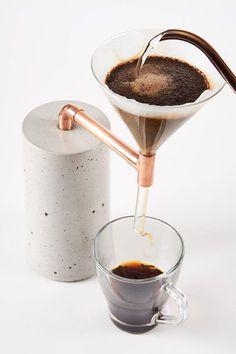 "ideas with cement Concrete ""Coffee Maker Single"" Beton Kaffeezubereiter Coffee Maker 2 Single Beton Design, Concrete Design, Concrete Crafts, Concrete Projects, Coffee Gifts, Coffee Drinks, Coffee Bags, Coffee Barista, Coffee Menu"