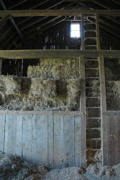I like how this picture shows different levels of the barn. Since the hays are on top of a whole large platform, it gives some limited space for the actors to move. But, I think it is an interesting way of keeping all the hays together.