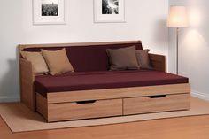 Rozkládací postel Tandem Klasik s područkami