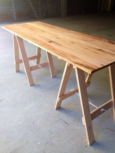 Nice simple, minimal feel to this trestle table, we kept this table in its raw form due to the beautiful character that the wood presented.
