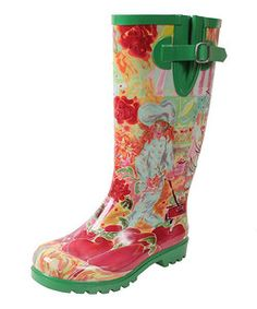 Chef at the Farmer's Market Puddles III Rain Boot | Something special every day