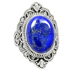Lapis 925 Sterling Silver Ring Jewelry s.6.5 RR31802 | eBay