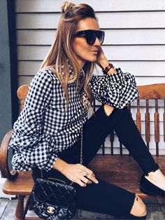 Chanel bubble and gingham