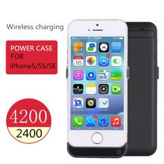 Portable Charger 4200mah cell phones power Case Rechargeable External Battery backup case Power Charger pack For iphone SE 5 5S Digital Guru Shop