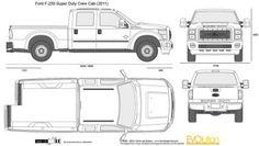 The-Blueprints.com - Vector Drawing - Ford F-250 Super Duty Crew Cab