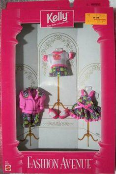 Fashion Avenue Kelly 1997 16697 Baby Sister of Barbie Pink Coat Sundress NRFB | eBay