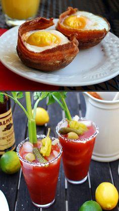 Bacon eggs, Bacon Bloody! Bacon Breakfast!
