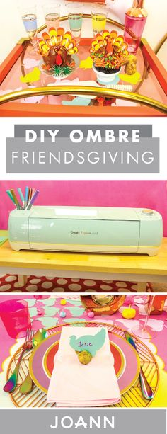 Looking to make your friends-Thanksgiving celebration an extra fun one this year? Check out this DIY Ombre Friendsgiving decor from Jo-Ann to get ideas for table settings, decorations, and more—all of which can be made using just a few craft supplies.
