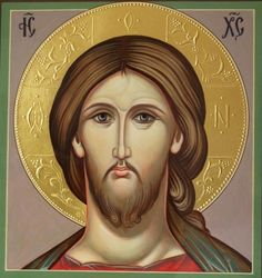 Jesus Christ hand painted icon by Peter Dzyuba. He has some icons in stock and accepts commissions at www.iconsofglory.org