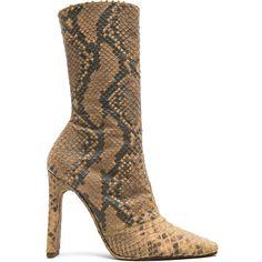 7e3ba9500e8b YEEZY Season 6 Python Embossed Ankle Boots (3