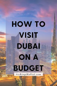 Dubai, the city known for fancy cars, yacht parties and 7 star hotels. You wouldn't think that you could visit there on a tight budget. Except you can! There are even many free things to do in Dubai