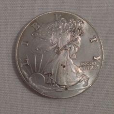 999 Fine Silver 1 Troy Oz Silver Bullion Round Walking Liberty Dollar Coin Replica Silver Trade Unit Bullion on Etsy, $45.00Sold!!!!