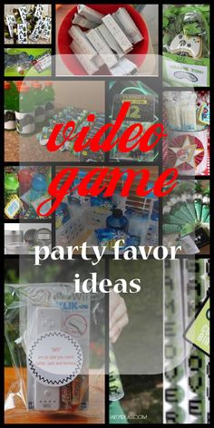 Cool video game party favor ideas for children of all ages, boys and girls. These will spur on your imagination to create your own unique video game party favors