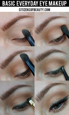 Basic everyday eye makeup look thats neutral and for every eye color