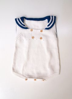 Unisex Baby Sailor Vintage Knit Onesie Romper just $24.00. Free shipping & wrapping. Coupon code 15OFFNOW for 15% off!