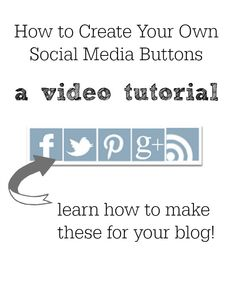 Watch a quick video tutorial on how to create social media buttons for a wordpress or Blogger blog