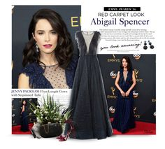 """""""Emmy Awards: Abigail Spencer"""" by thewondersoffashion ❤ liked on Polyvore featuring Jenny Packham, David Yurman, Valentino, NARS Cosmetics, Judith Leiber and Gianvito Rossi"""