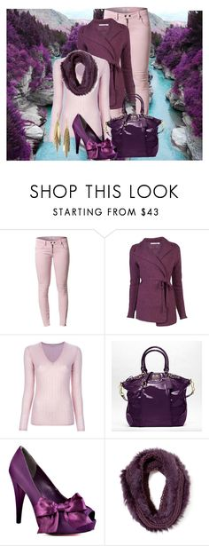 """""""Shades of Purple"""" by roseyrose27 ❤ liked on Polyvore featuring ESPRIT, Issue 1.3, Cotélac, P.A.R.O.S.H., Coach, Paris Hilton, Scoop and Rachel Reinhardt"""