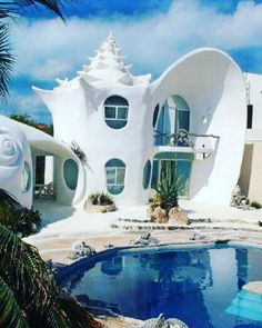 #CoolBuilding #Structure #Facade #Shell #Conch #561BUILD #ForensicEngineer #Miami #FtLauderdale #PalmBeach Vacation Home Rentals, Dream Vacations, Architecture Cool, Classical Architecture, Sustainable Architecture, Pavilion Architecture, Residential Architecture, Contemporary Architecture, Beautiful Homes