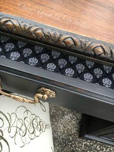 old desk makeover, painted furniture