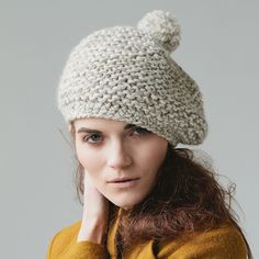 Textured Marbled Beret Pattern ~ You will need 87yds of Super Bulky for this cute quick knit