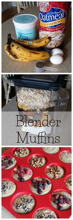 Super easy blender muffins. Dump everything in the blender and blend.