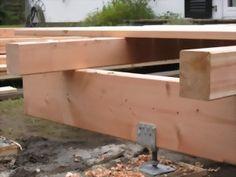 Holz - Wohnen - GartenHolz - Wohnen - Garten Douglasie Terrasse Unterkonstruktion. 45 x 70 mm.