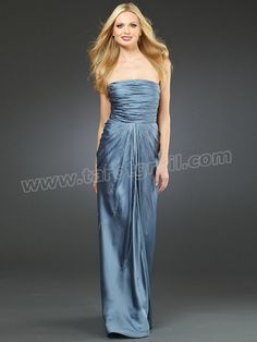 Sheath Style Full Length Skirt Strapless Neckline Ruched Bodice Sequined Trim Evening Dresses