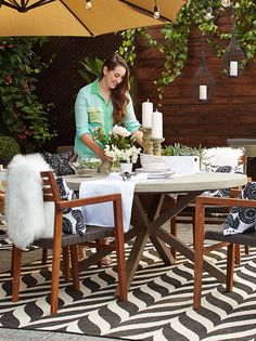 Kira styles the CANVAS Patio Collection