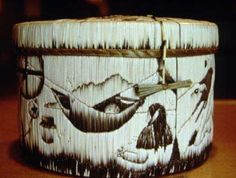 Birch Bark Quill Box Basket How to make boxes instructions baskets ...
