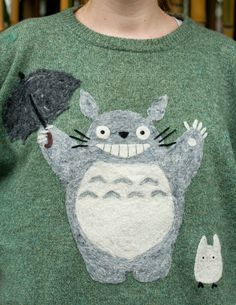@ Jasmine: Can you make??? Totoro inspired NeedleFelted Sweater by ShearComfort on Etsy, $100.00