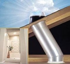 Solar tubes for dining room and guest suite bathroom