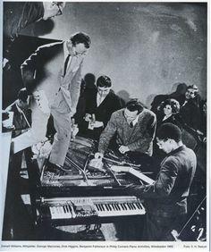 Philip Corner's Piano Activities - with Emmett Williams, George Maciunas, Dick Higgins and Benjamin Patterson, 1962 Neko, Fluxus Art, Modern Art, Contemporary Art, Sound Art, History Teachers, Ancient Art, Art History, Music