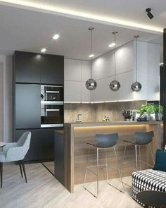 Modern Apartment Kitchen Designs - The Best Modern Kitchens Kitchen Interior Design Modern Kitchen 1649 Cozy Modern Apartment In Poland Etc With Images China New Modern Apartment Design. Kitchen Room Design, Best Kitchen Designs, Kitchen Sets, Home Decor Kitchen, Interior Design Kitchen, Decorating Kitchen, Kitchen Themes, Decorating Tips, Kitchen Counter Design