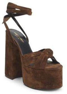 3202029536 Manolo Blahnik Women's Khan Suede & PVC Sandals - Pink Suede   Shoes ...