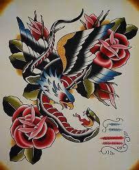 """Résultat de recherche d'images pour """"traditional eagle tattoo flash"""""""