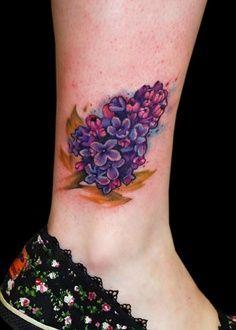 Purple flowers lilac tattoo