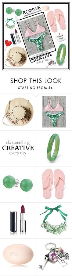 """Leaf Print Sexy Bikini Set-win $30 coupon!"" by hodzicalena ❤ liked on Polyvore featuring Betsey Johnson, WALL, Palm Beach Jewelry, Bling Jewelry, Old Navy, Givenchy, P.A.R.O.S.H. and Chanel"
