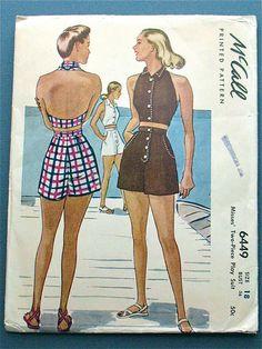 Glam beachwear Vintage Shorts, Vintage Outfits, Vintage Dresses, 1950s Dresses, Lace Dresses, Vintage Clothing, Vintage Fashion 1950s, Vintage Mode, Retro Fashion