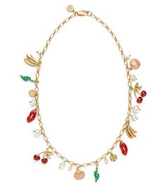 Tory Burch Sylvan Short Rosary Necklace $250