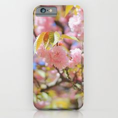 Pink Cherry Blossoms iPhone & iPod Case