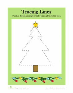 Worksheets: Tracing Lines: Christmas