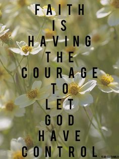 The most difficult part of faith is not to believe that the LORD is an all powerful God, who did and still does many miracles; the most challenging part of faith is to trust God enough to let Him be the Lord of every aspect of your life!